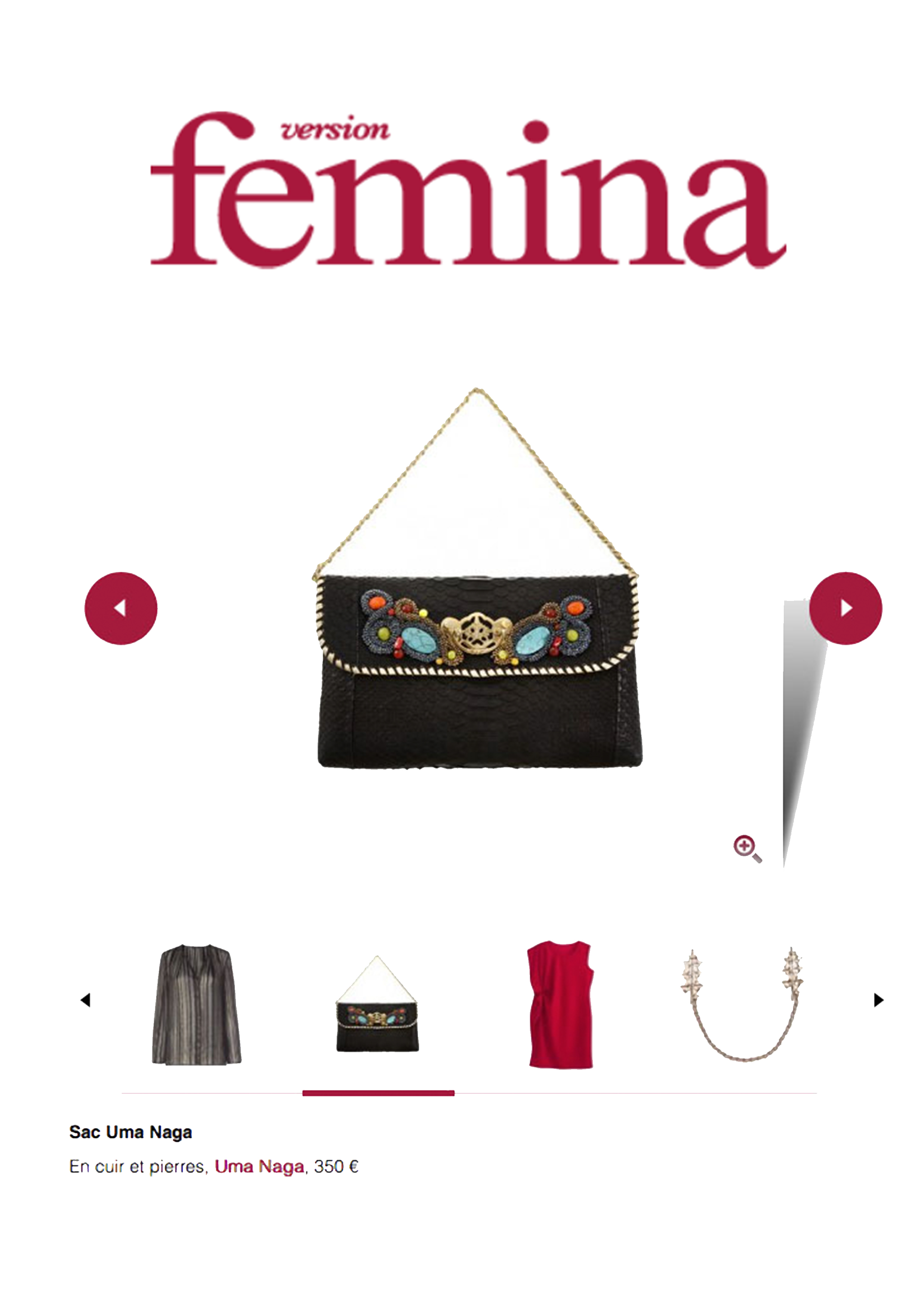 Version Femina supplément JDD janvier 2017 Parution