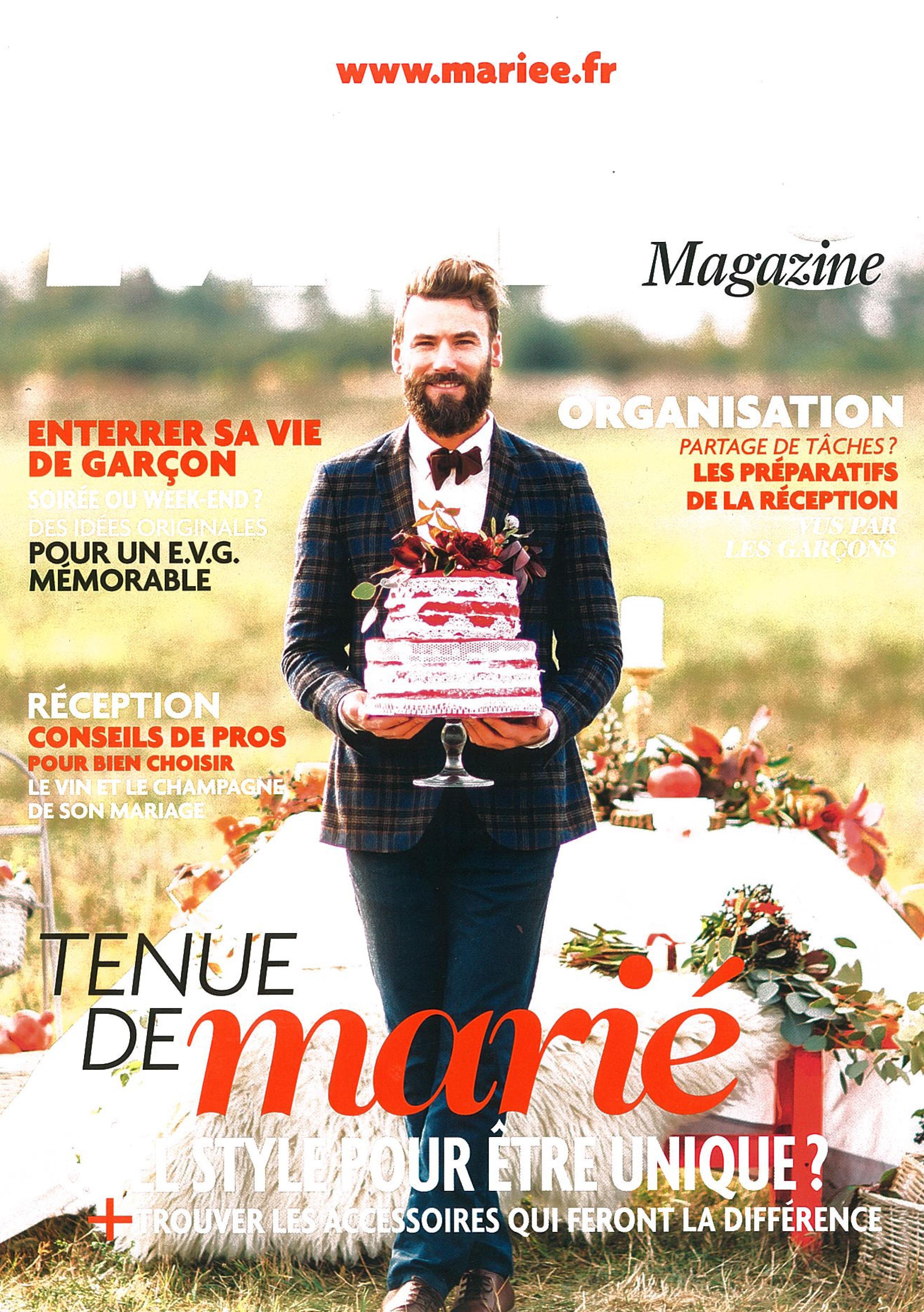 Supplément Hommes du Mariée Magazine Mars Avril Mai 2017 couverture