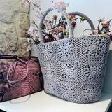 #umanaga #pinkpython #paris15eme#rueducommerceparis #handmadecrochetbags #artisanal